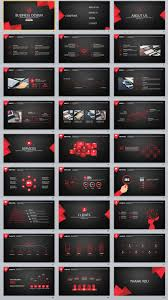 27 Red Black Business Powerpoint Template