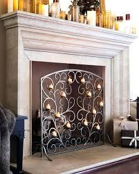modern fireplace screen decorative fire screens uk contemporary glass screensaver