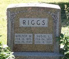 "Charlotta Susanna ""Susie"" Heckendorn Riggs (1877-1955) - Find A Grave  Memorial"