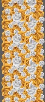 Designer Dance Floors White Gold Rose Printed Dance Floor By Exotik Wrapz