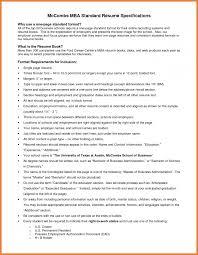 Standard Format Of Resume Sop Proposal