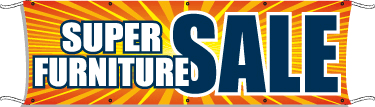 furniture sale banner. Giant Outdoor Banner: Super Furniture Sale Banner N