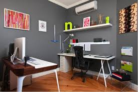 compact office. Compact Home Office Furniture Grey Wall Color For Small Ideas With Sleek White Desk Creative I