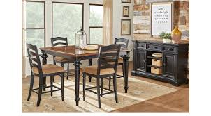 pictures of dining rooms. Eric Church Highway To Home Arrow Ridge Ebony 5 Pc Counter Height Dining Room Pictures Of Rooms