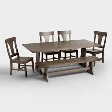 table with chairs. rv dining table and chairs rustic wood brinley fixed world market with