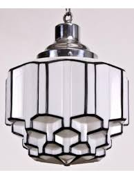 1920 s art deco skyser style pendant light fixture with ziggurat profile save