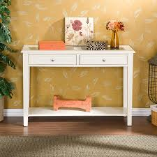 white entrance table. Home Office:Shallow Depth Console Table Tuscan Entrance Wall 12 Inch White N