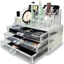 ... Ikee Design Acrylic Makeup Organizer Jewelry Display Box Two Pieces  Set ...