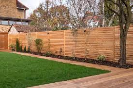 siberian larch decking and garden