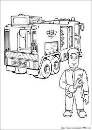 Colorare Sam Il Pompiere Disegno Il Meccanico Di Camion Dei Pompieri