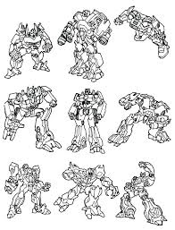 Free Online Printable Transformer Coloring Pages Free Transformers