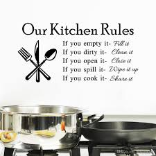 Kitchen Art Wall Decor 2015 Hot Our Kitchen Rules Quote Vinyl Art Wall Stickers Decal