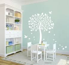white tree wall sticker cot side tree for nursery or kids room diy removable wall decal