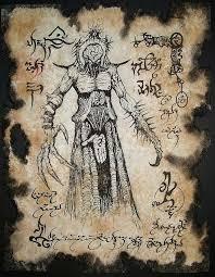 nightmare demon larp necronomicon fragment occult horror by zarono 10 00