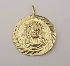 14k yellow solid gold face round