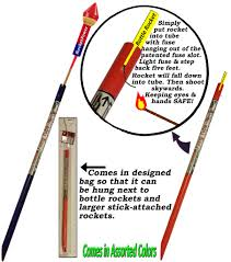 today that has a patented safety feature ideal for shooting bottle rockets whistlers skyrockets and large stick attached rockets
