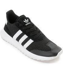 adidas shoes black and white. adidas flashback black \u0026 white womens shoes and zumiez