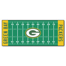 home depot green bay fanmats green bay packers 3 ft x 6 ft football field rug runner