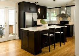 kitchens with dark cabinets and light countertops. Cosy Dark Cabinets Light Countertops For Warm The Kitchen With Kitchens And A
