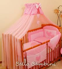 5 piece baby cot bedding set with 4