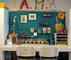 abstract art design ideas kids contemporary with built in craft room white desk