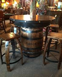 whiskey barrel table and chairs vintage whiskey barrel dining set