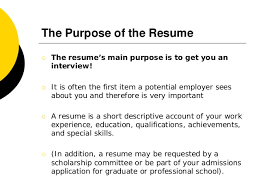 cover letters 3 the purpose of the resume - Purpose Of A Resume Cover Letter