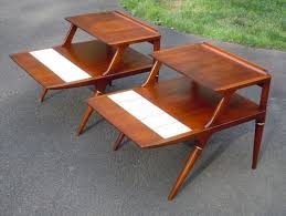 decoration pair of mid century danish modern teak end tables by povl dinesen elegant pertaining