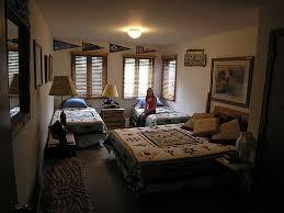 simple kids bedroom at night