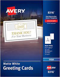 Maybe you would like to learn more about one of these? Amazon Com Avery Half Fold Greeting Cards Inkjet 5 5 X 8 5 Matte White Box Of 30 Envelopes Included 8316 Inkjet Printer Paper Office Products