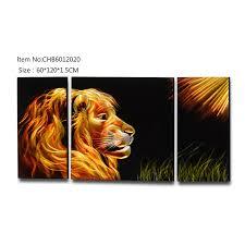 china lion animal 3d handmade metal oil