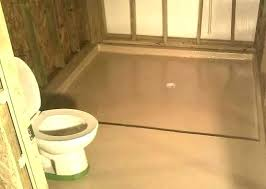 shower floor cover concrete paint ideas with brown