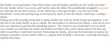 my family is my motivation   help with st johns heres another revision the changes are mostly superficial  commas and such