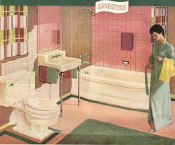 A pink and brown 50s bathroom - soothing, pretty and retro - Retro ...