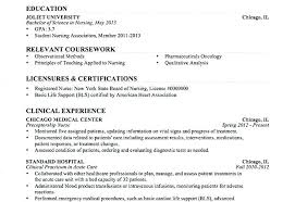 Registered Nurse Resume Sample Inspiration Sample Nursing Resume Resumes For Samples Of Resumes Nurse Resume