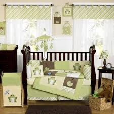 ... Amusing Light Green Jungle Baby Nursery Room Decoration Using Light  Green Flower Baby Bedding Set Including Light Green Jungle Baby Room Wall  Mural And ...