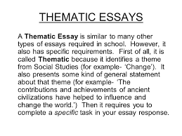 how to write a social studies essay ppt video online  thematic essays
