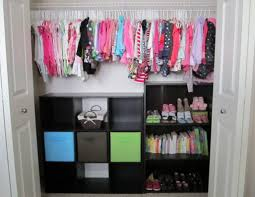 cool closet organization ideas with storage for kids room decor