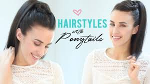 Quick Cute Ponytail Hairstyles Easy Hairstyles With Ponytails Youtube