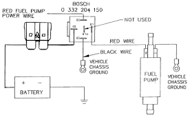 rv net open roads forum class a motorhomes fuel pump the red power wire can go to a on off switch or the hot run side of the ignition key