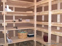 My basement cold room storage shelves! I built these in a U shape to make