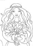 Принцессы картинки для раскрасок