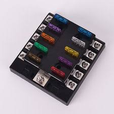 block base car audio and video fuses holders auto car boat 10 way circuit standard automotive blade fuse box block holder