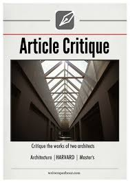 architecture essay example topic critique the works of two architects type article critique subject architecture academic