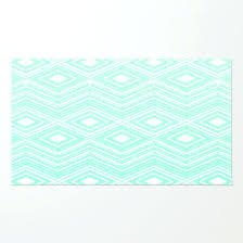 mint rug hipster green arrows tribal pattern by ruger