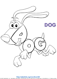 Wordworld Printable Coloring Pages Dog Pbskids