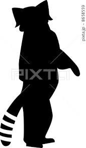 レッサーパンダのシルエットのイラスト素材 8658559 Pixta