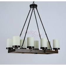 arturo rustic vintage wood led rectangular chandelier a modern lighting design on dezignlover com