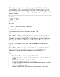 Executive Housekeeper Resumees Samples Assistant Sample Cover Letter