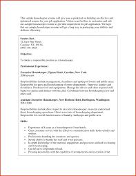 Housekeeping Resume Executive Housekeeper Resume Examples Housekeeping Sample Fungram 35